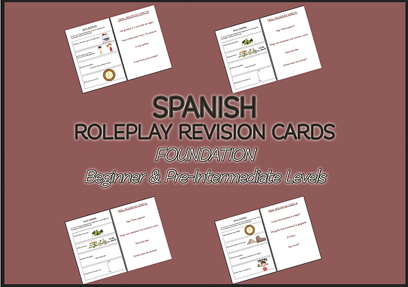 SPANISH ROLE-PLAY REVISION CARDS Beginner Pre-Intermediate
