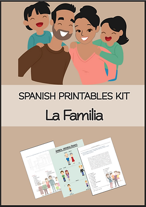 SPANISH La Familia Printables Kit