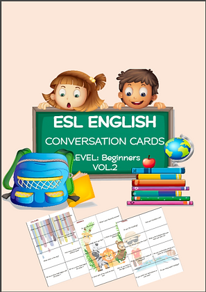 ESL ENGLISH Conversation Cards LEVEL Beginners VOL 2