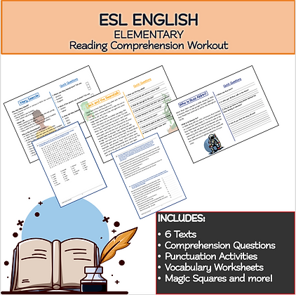 ESL ENGLISH Pre - Elementary Reading Comprehension Workout