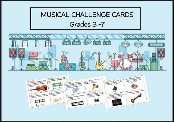 Musical Challenge Cards (Grades 3 - 7)