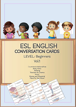 ESL ENGLISH Conversation Cards LEVEL Beginners VOL 1
