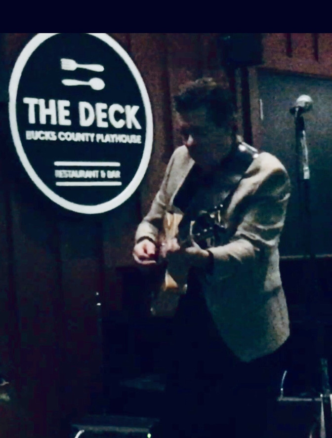 At The Deck in New Hope with Alex Heile!