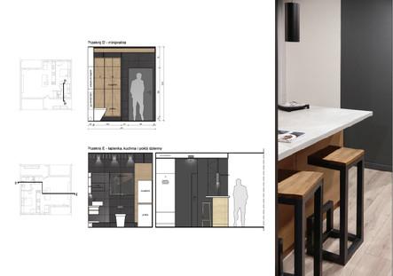 Interior-B kuchnia w kładach
