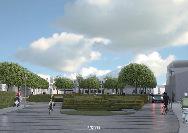 Pleszew - zielony plac