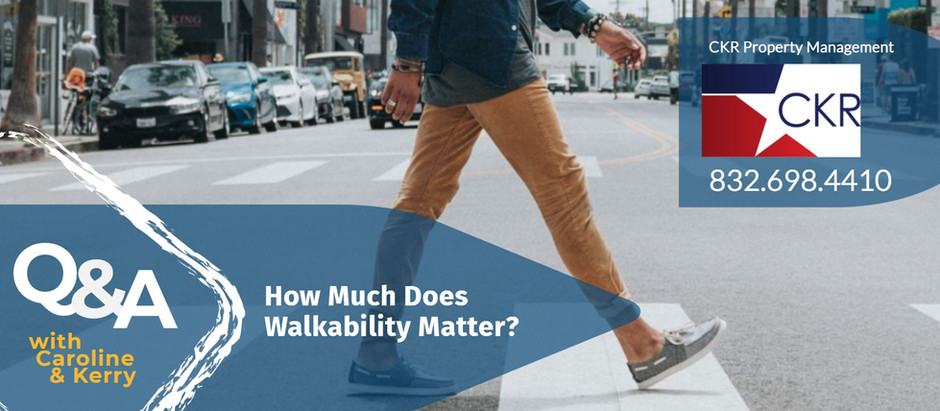 How Much Does Walkability Matter?