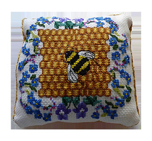 Bee Happy pincushion