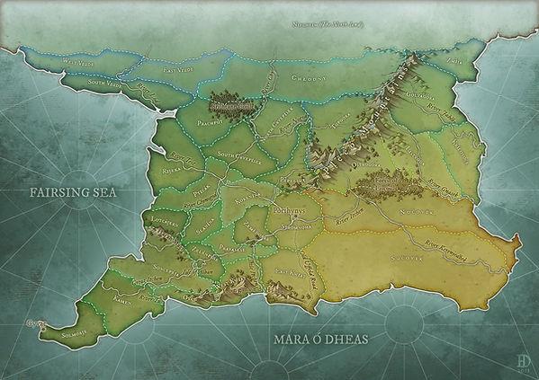 Meška's map of Caerlean