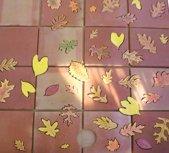 Autumn Leaf Floor Tiles
