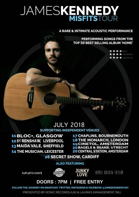 james kennedy, singer, misfits tour, poster