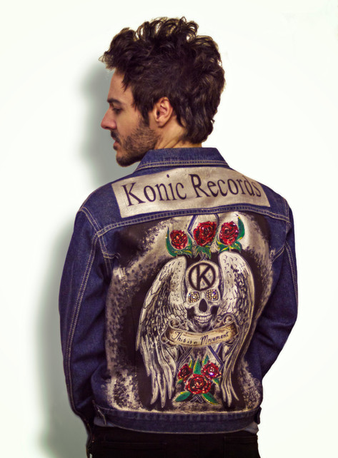 James Kennedy, Kyshera, Konic Records - Jean Jacket Designs UK Custom Denim Jacket