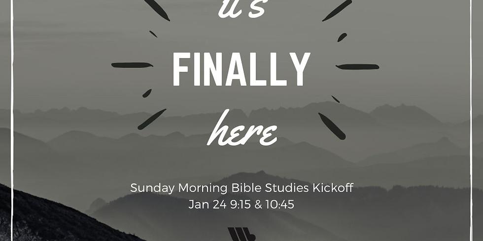 Sunday Morning Bible Studies Kickoff