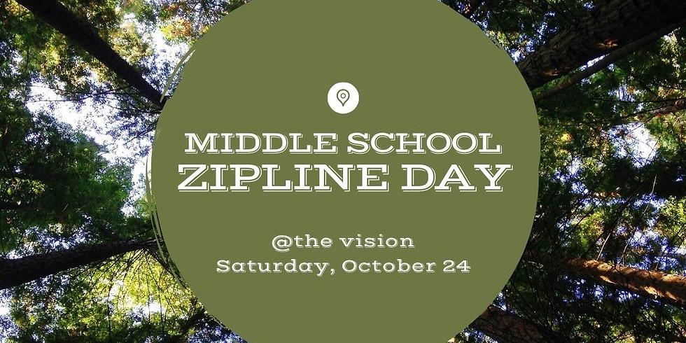 Middle School Zipline Day