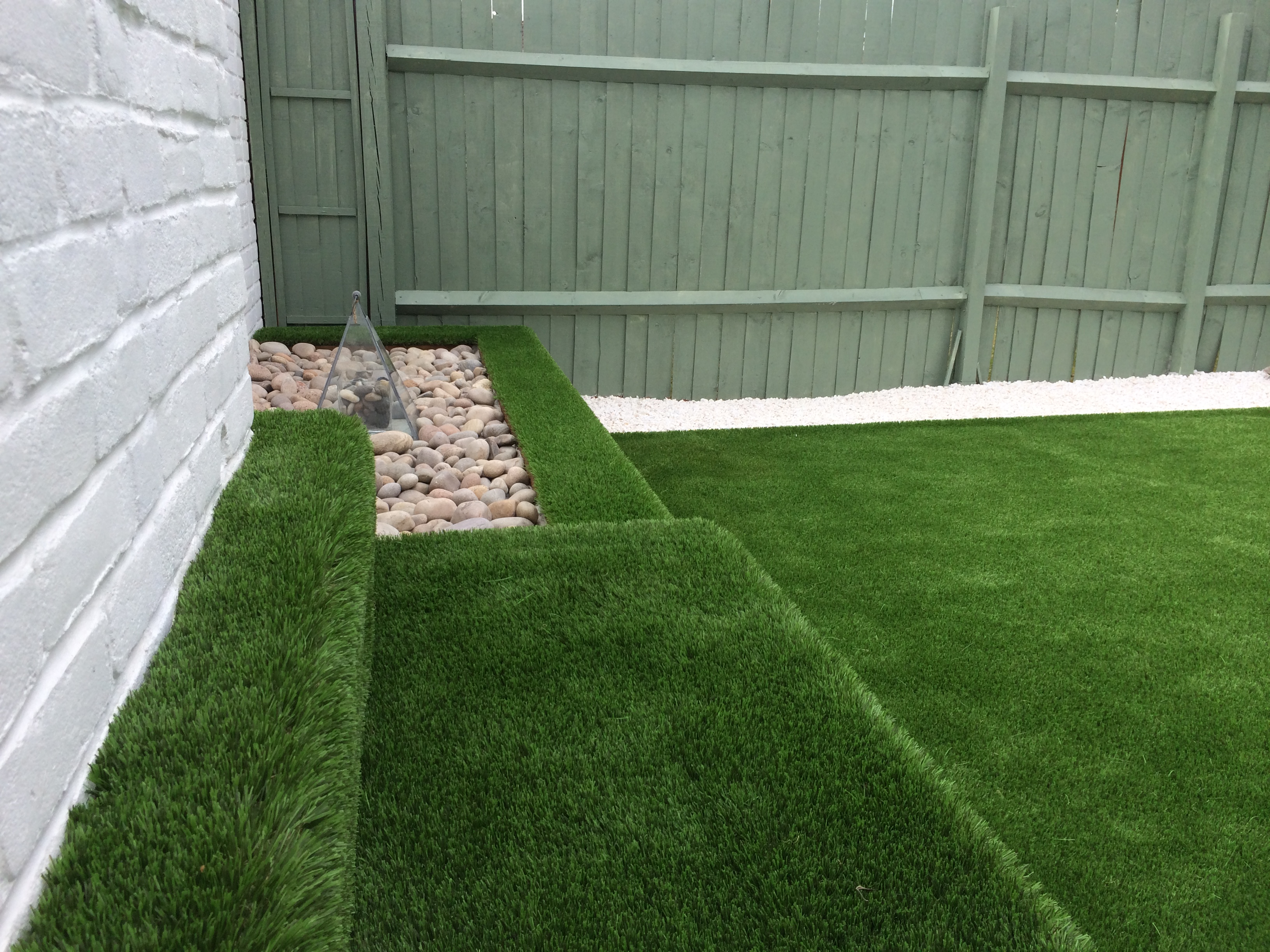 Bespoke grass clad seating areas