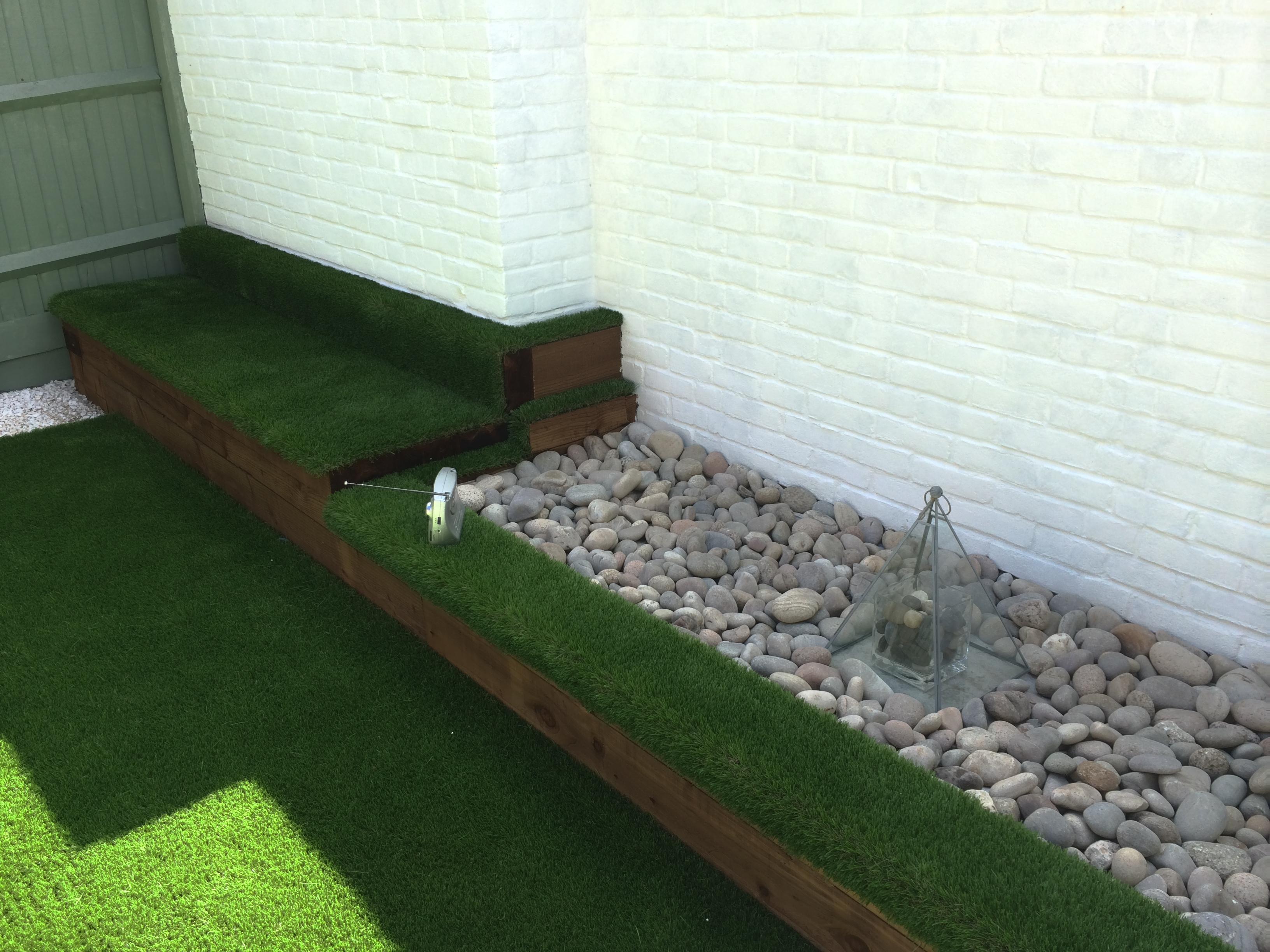 Bespoke grass bench seat