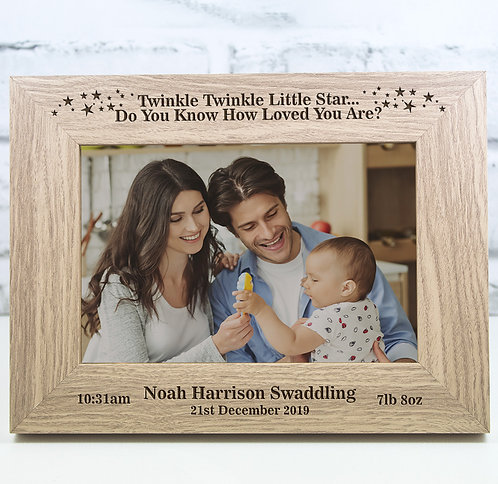 Personalised First Scan Photo Frame Gift Keepsake Engraved
