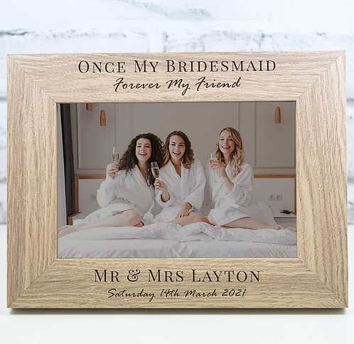 Personalised Bridesmaids Photo Frame