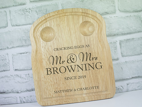 Personalised Dippy Egg Board Plate Wedding Gift