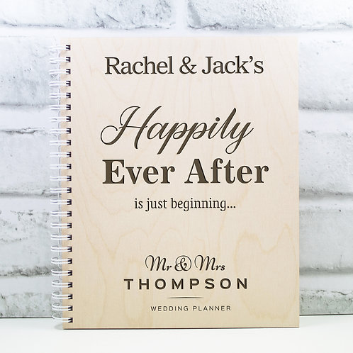 Personalised Wedding Planner Wooden Wedding Book Gift Engagement Gift