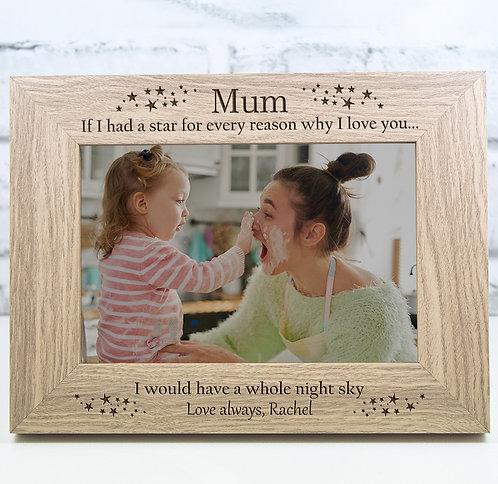 Personalised Mum Photo Frame Gift Keepsake Engraved