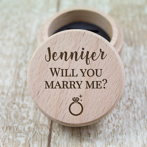 Personalised Engagement Ring Box