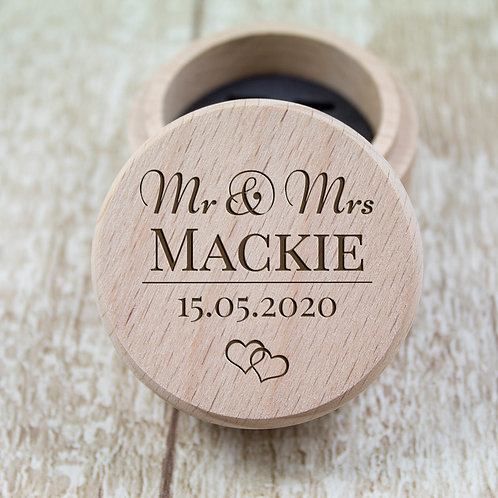Personalised Wedding Ring Box