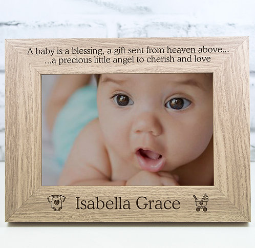 Personalised New Born Photo Frame