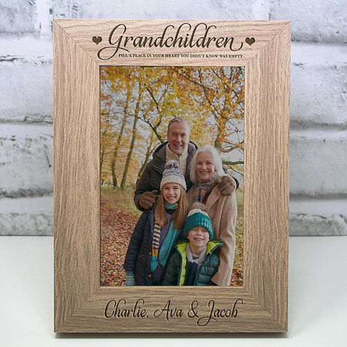 Personalised Grandchildren Photo Frame Christmas Gift Grandma Grandad Grandparen