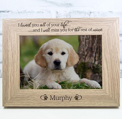 Personalised Dog Memorial Photo Frame Gift Keepsake Engraved
