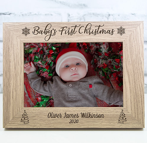 First Christmas Photo Frame Baby's First Christmas