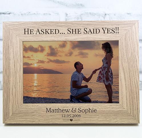 Personalised Engagement Photo Frame