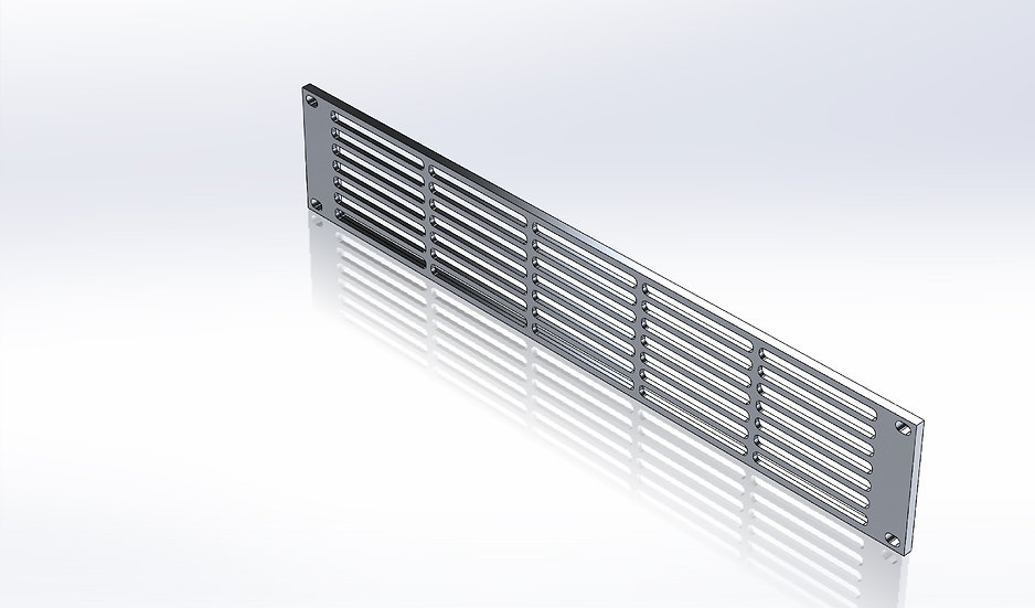 Rack Mount Panel - 2U With Slotted Vents