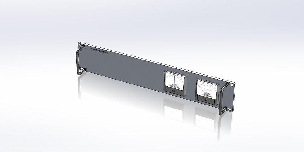 2U Panel - DC Voltmeter/Ammeter Panel