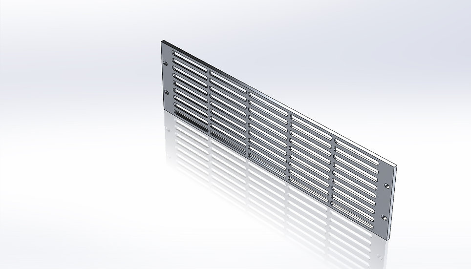 Rack Mount Panel - 3U With Slotted Vents