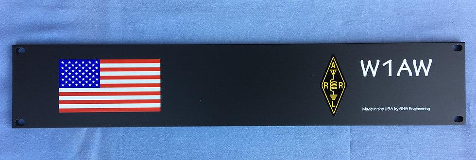Custom Rack Mount Panel - 2U With Flag and CallSign