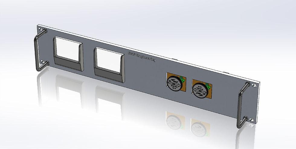 2U Panel - RF Wattmeter for Two Wide Vue Meters