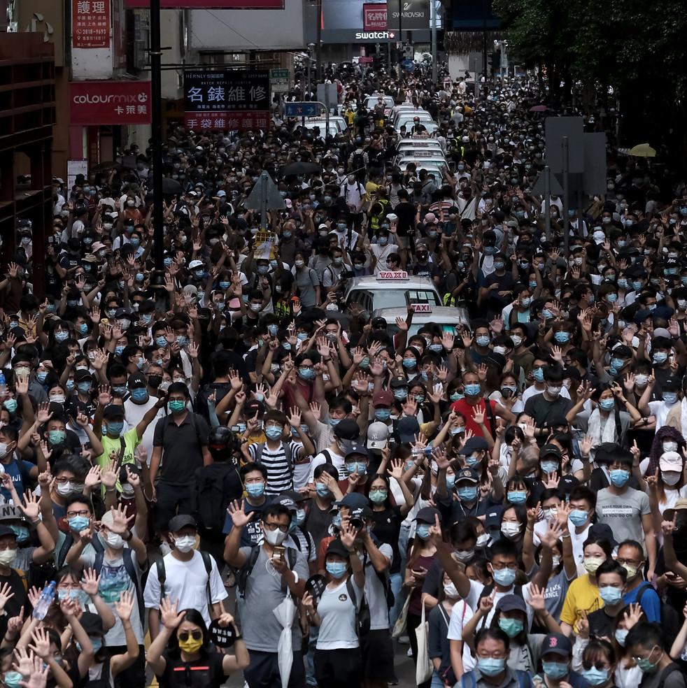 銅鑼灣,攝於2020年7月1日 Causeway Bay, Jul 1, 2020