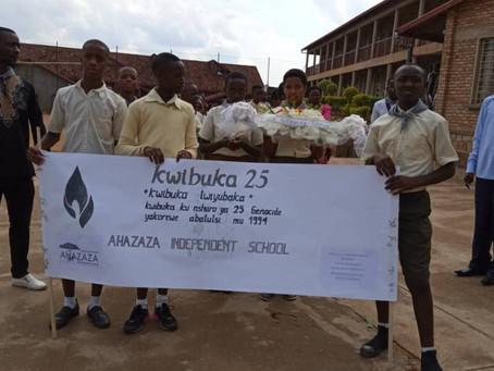 25TH COMMEMORATION OF THE GENOCIDE AGAINST THE TUTSI IN AHAZAZA SCHOOL