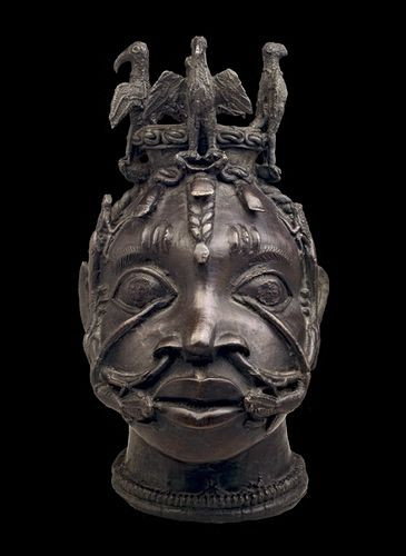 Bronze Head for the Worship of Osun Benin Empire, 18th century The British Museum