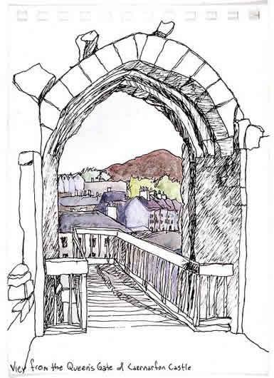 From Queen's Gate, Caernarfon Castle 1983