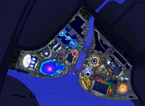 Ocean Themepark Lighting Master Plan