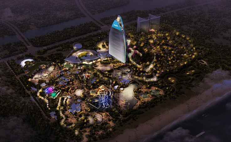 Atlantis Hainan lighting master plan
