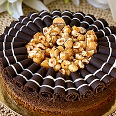 Toffee Hazelnut Mousse Gateau