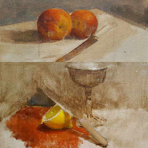 Two Still life painting demos