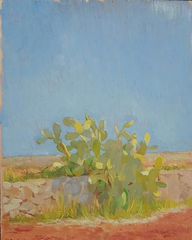 Small landscape sketch from Ibiza, memor