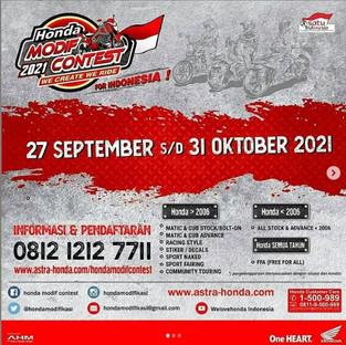 AHM Bakal Gelar Honda Modif Contest 2021 Secara Virtual di 12 Provinsi, Lombakan 9 Kelas