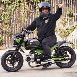 RSD Wee Monkey: Mini Bike Custom Pesanan Aktor Jason WeeMan Acuna