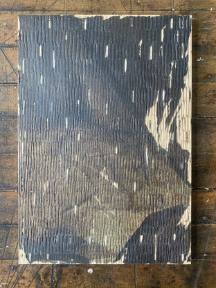 Tissue + Medium on wood