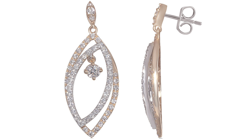 Drop Diamond Dangling Earring