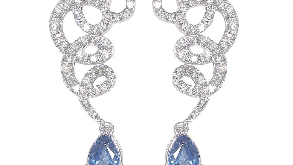 Ribbon diamond earring